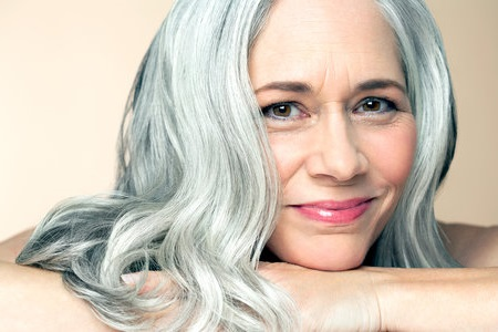 make gray hair smooth and shiny